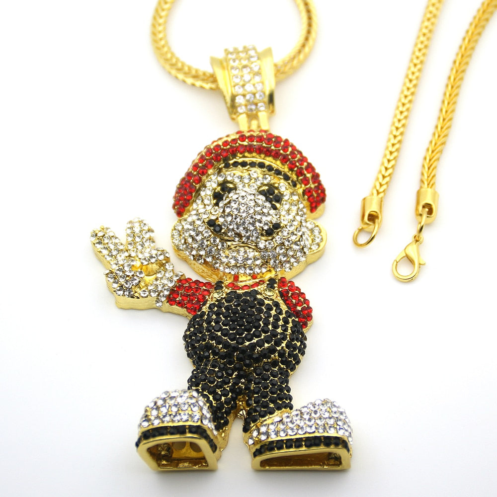 Cartoon Game pendant Cz Iced Out *NEW*