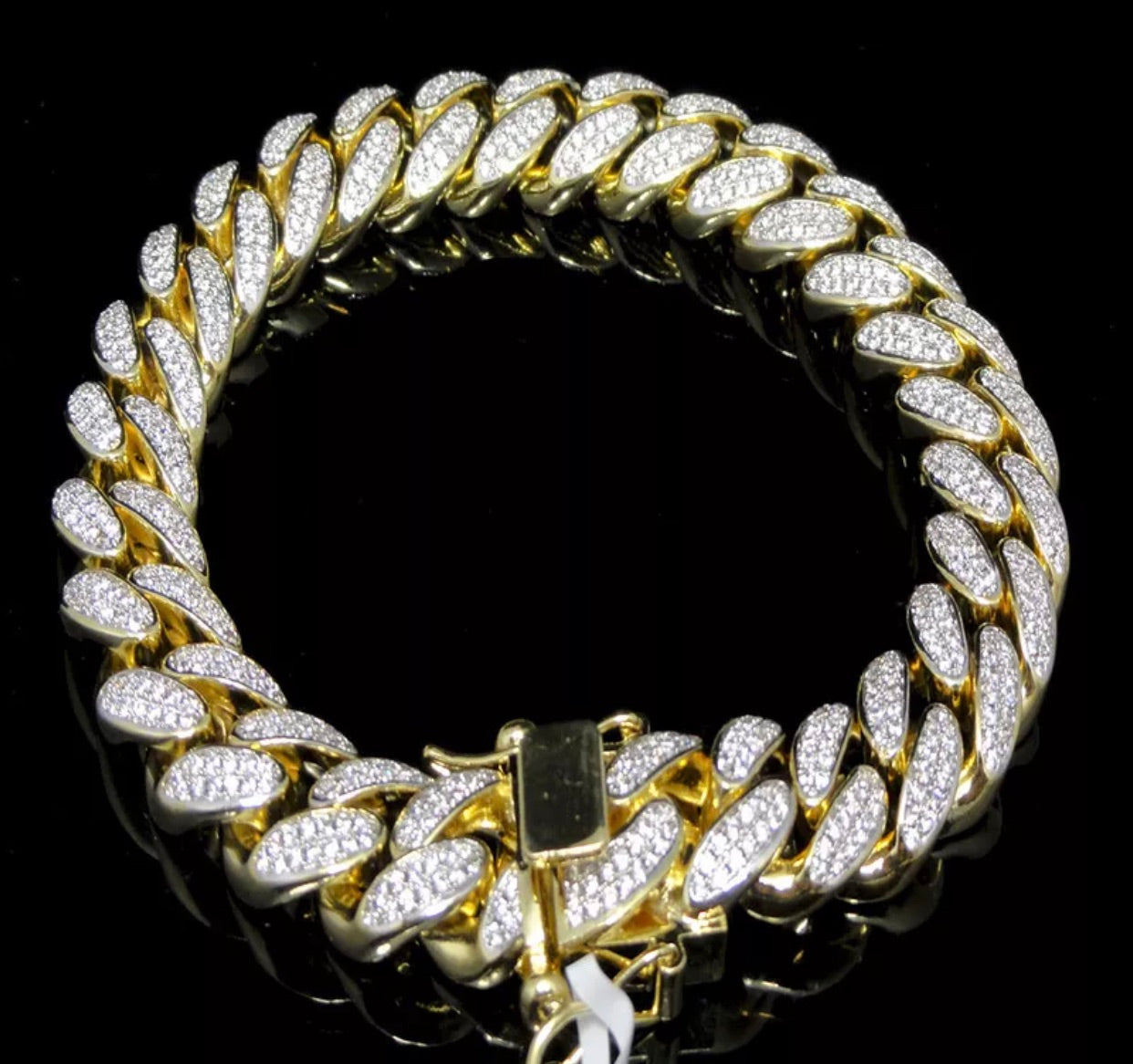 12mm Yellow Gold Solid Heavy Bracelet *NEW*