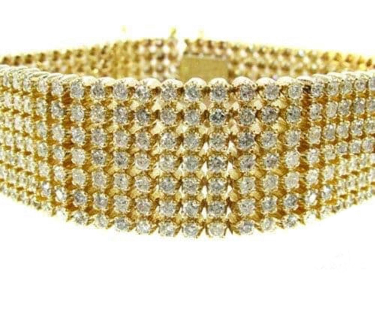 7 row Gold Diamond Bracelet *NEW*