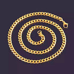 5mm GOLD Women Cuban Curb Chain *NEW* - a-m-clothing-shoppe