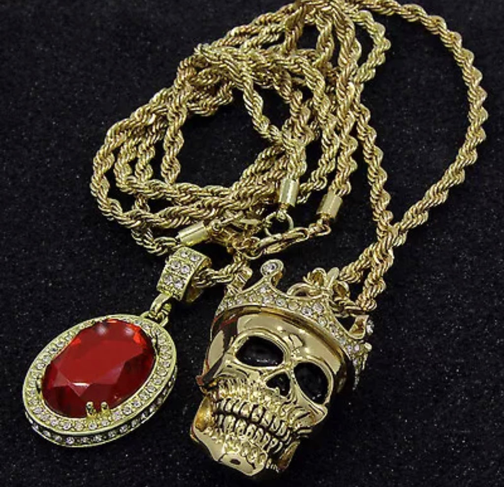 Gold Skull & Ruby Bundle *NEW* - a-m-clothing-shoppe