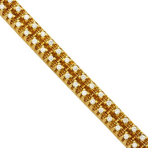 18K Gold Two Row Diamond Tennis Bracelet - A&M
