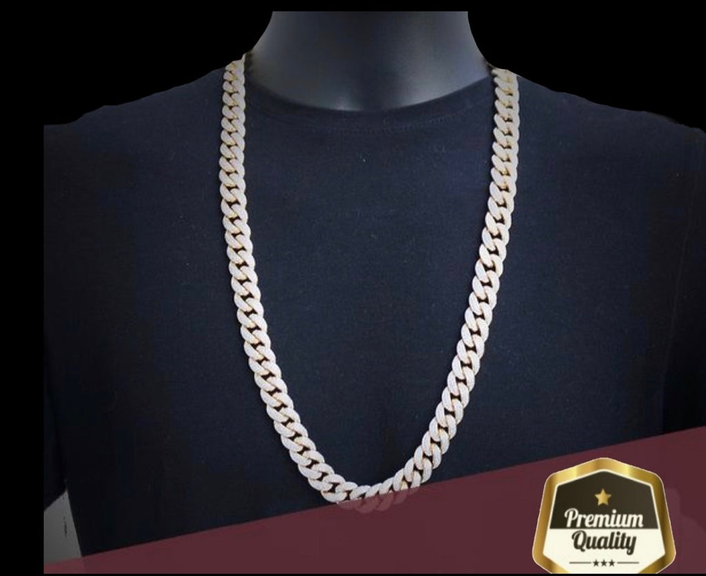 18k Solid Gold 12mm Cuban Chain Necklace *NEW*