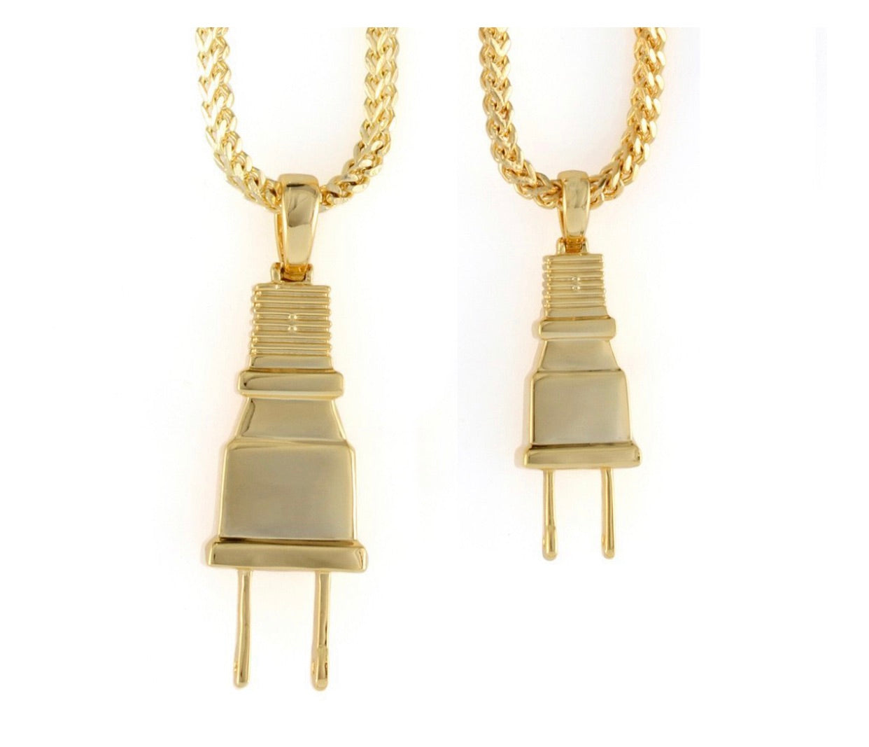 14K Gold Plug Necklace - A&M