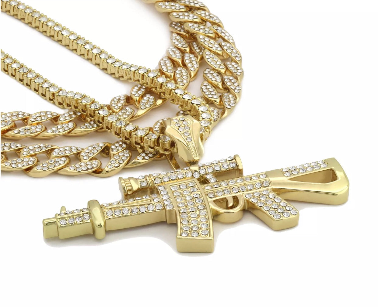 Cz Cuban & Pendant Bundle *NEW*