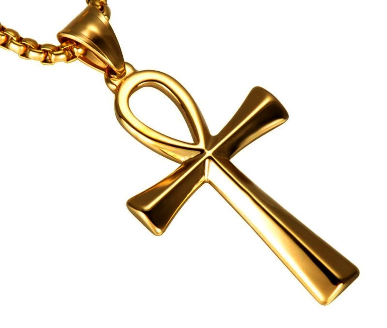 GOLD Egyptian Ankh Pendant *NEW* - a-m-clothing-shoppe