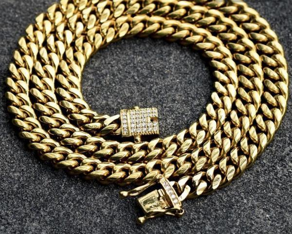 14K Gold 12mm Cuban Chain Necklace