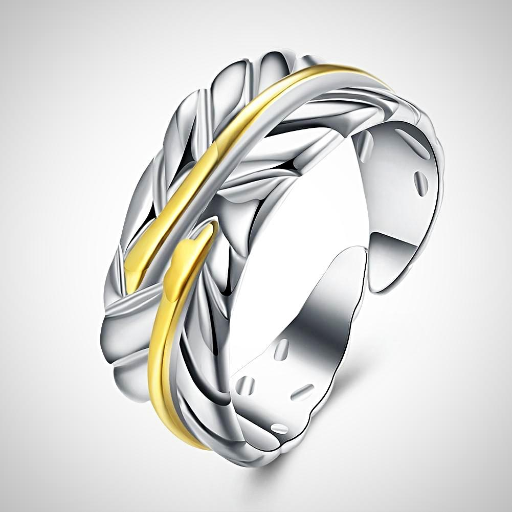Leaf Ring Adjustable in White Gold  *NEW*