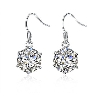 Snowflake Drop Earring in White Gold *NEW*