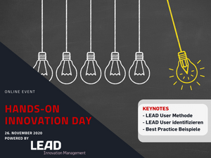 "Hands-on Innovation Day ""LEAD User Methode"" 26.11.2020"