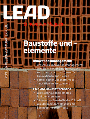 LEAD Innovation Magazin Baustoffe und -elemente