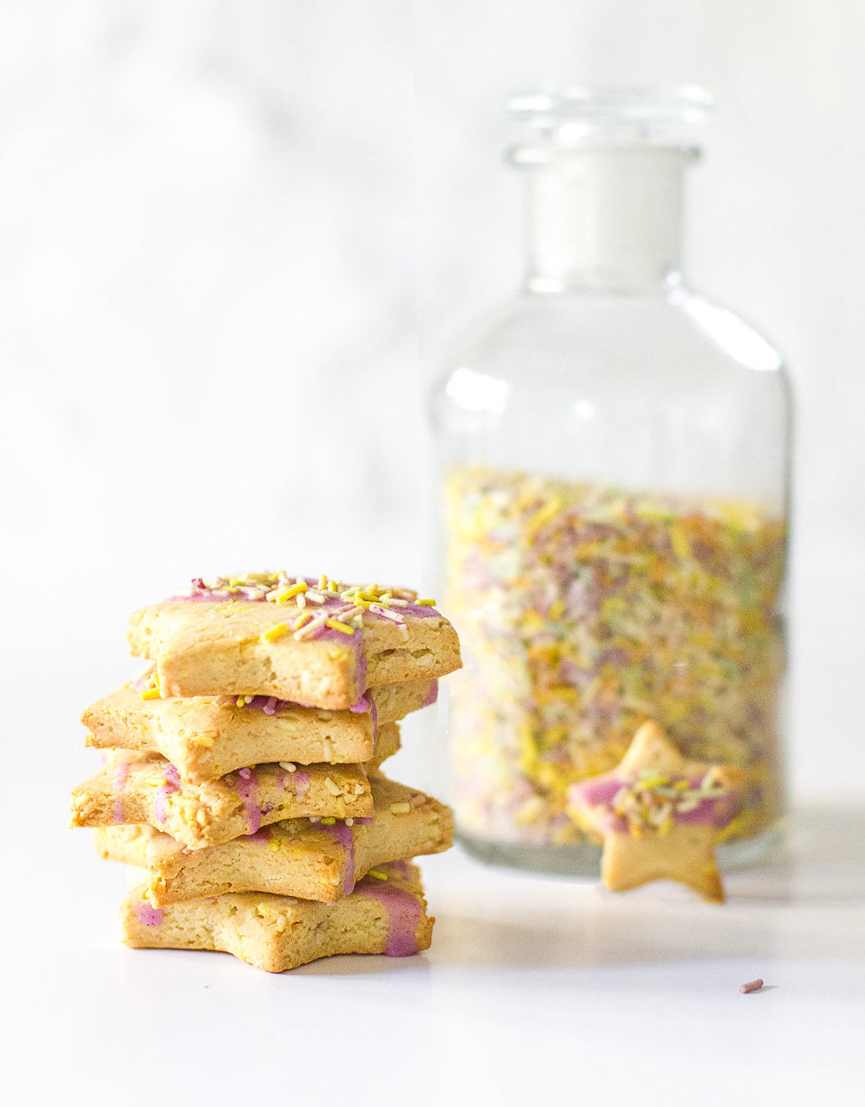 Paleo Unicorn Confetti Star Cookies