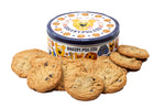 Nittany Lion Tin surrounded by yummy Penn State Bakery chocolate chip cookies