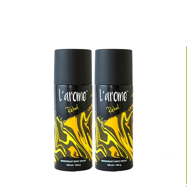 L'Arome Rebel Men Deodorant | 150 ML | Pack of 2