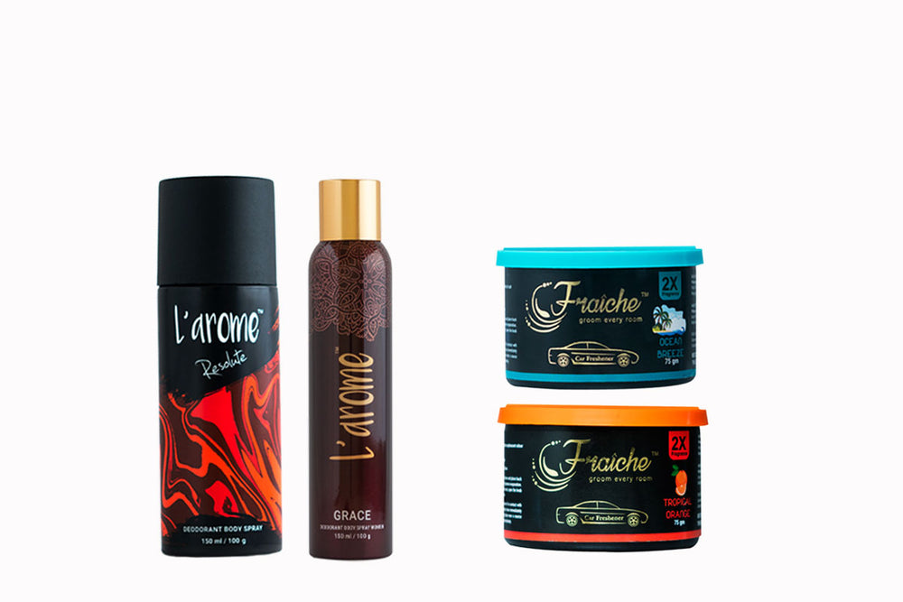 Buy 1 male & 1 female Deodorant and get 2 Car Gel, FREE!