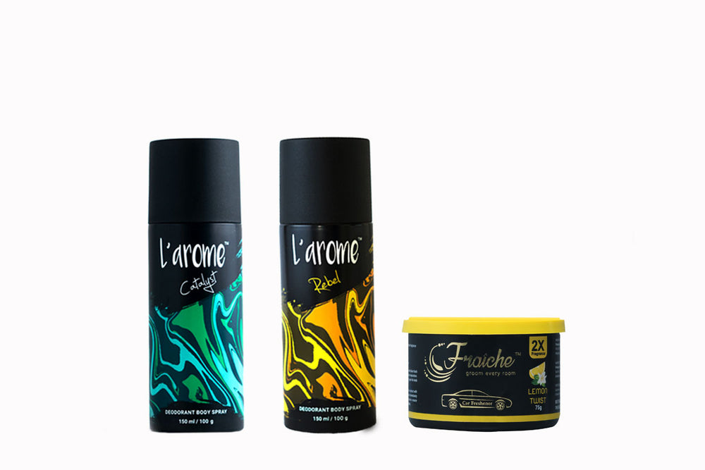 Buy 2 male Deodorants and get 1 Car Gel free!