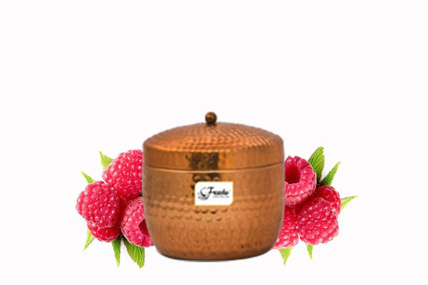 Fraiche Hammered Jar Candle | Fragrance: Raspberry | 312gms | Burn Time: 30hrs