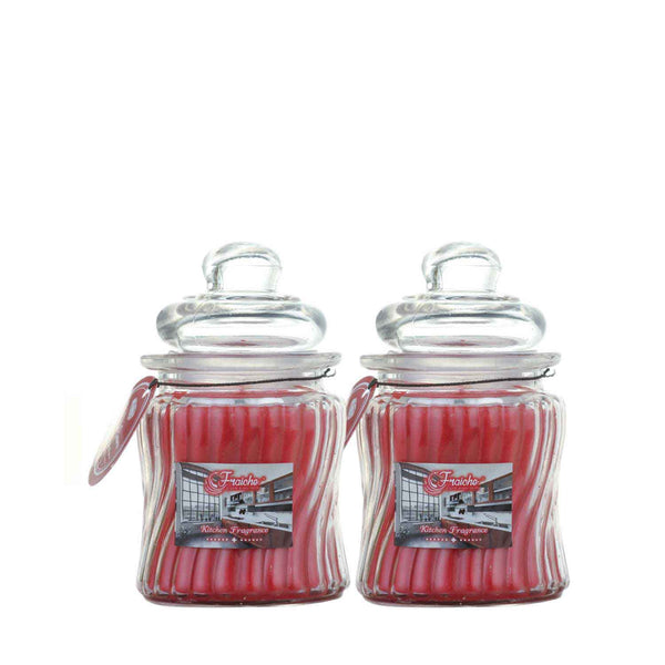 Fraiche Cinnamon ribbed jar candle | Pack of 2
