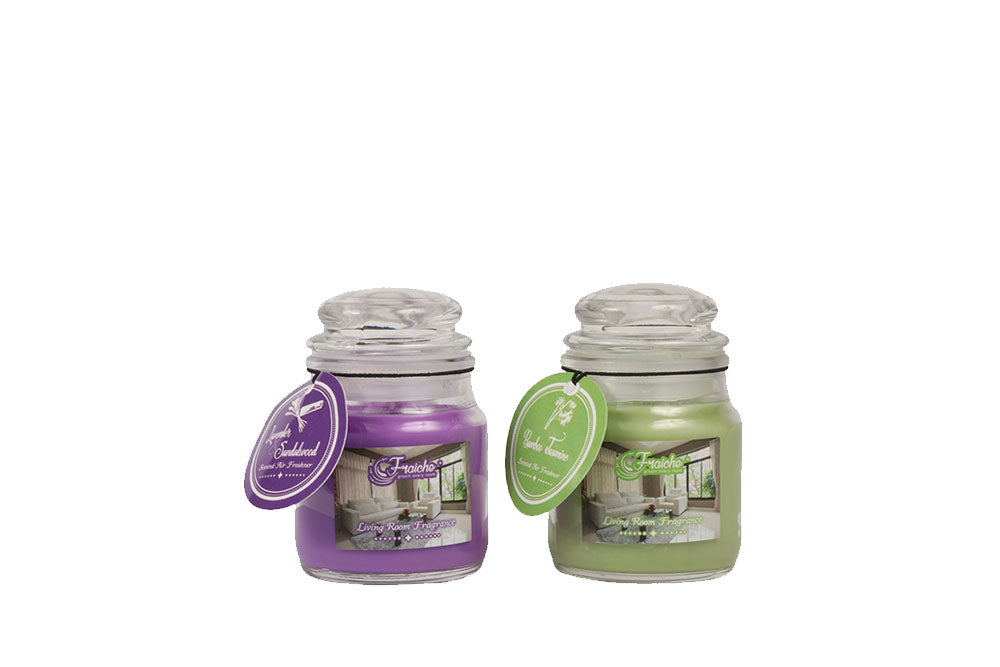 Fraiche Lavenders & Bamboo Jasmine Scented Jar Candles