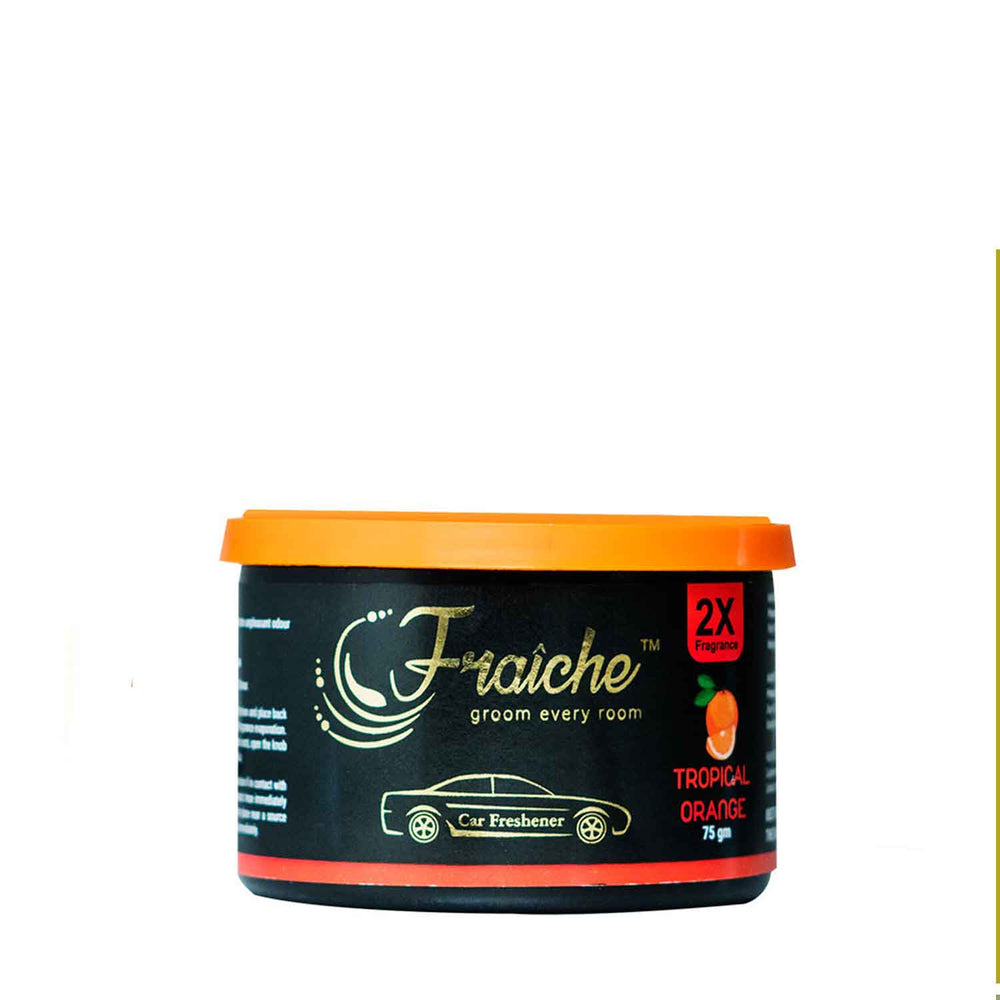 Fraiche Scented Premium Car Freshener Gel | Fragrance : Tropical Orange | 75 grams