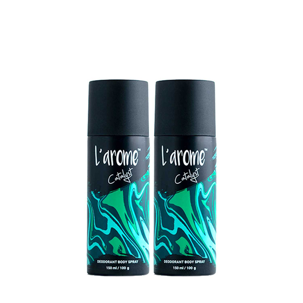 L'Arome Catalyst Men Deodorant | 150 ML | Pack of 2