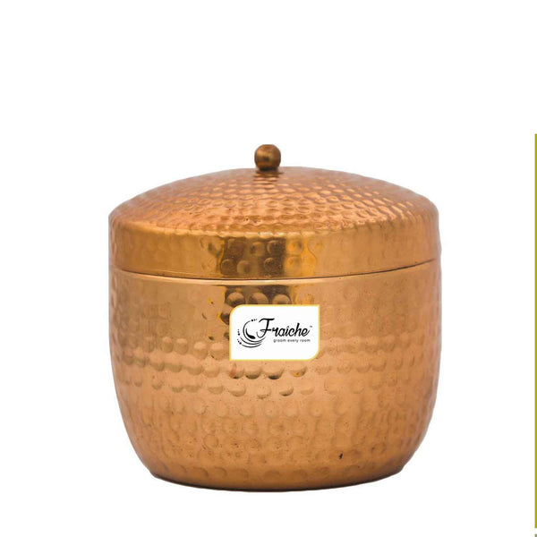 Fraiche Raspberry Hammered Jar Candle, 312 grams