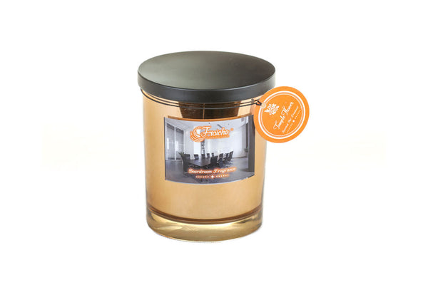 Fraiche Brad Jar Candle | Fragrance: Temple Flower | 420gms | Burn Time: 50hrs