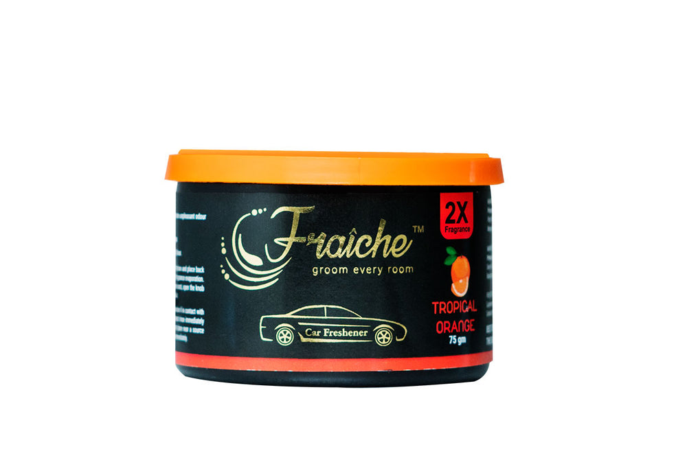 Fraiche Premium Car Freshener Gel | Fragrance: Tropical Orange | 75gms