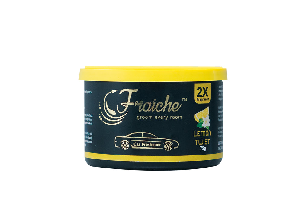Fraiche Premium Car Freshener Gel | Fragrance: Lemon Twist | 75gms