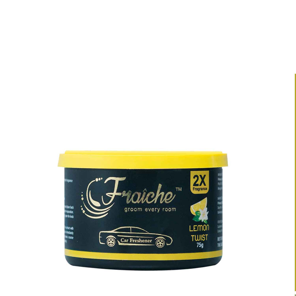 Fraiche Scented Premium Car Freshener Gel | Fragrance : Lemon Twist | 75 grams