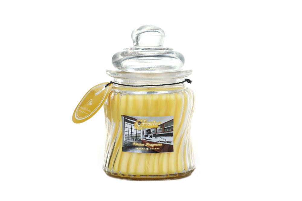 Ribbed Jar Candle - 250gms - Citrus