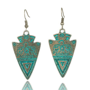 Antique Bronze Patina Earrings - E020613 - Earrings
