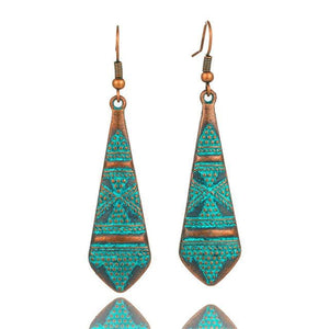 Antique Bronze Patina Earrings - E020618 - Earrings