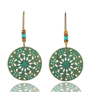 Antique Bronze Patina Earrings - E020634 - Earrings