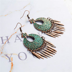 Antique Bronze Patina Earrings - E020639 - Earrings