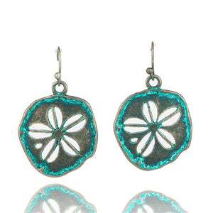 Antique Bronze Patina Earrings - E020642 - Earrings