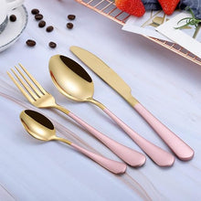 Beatrice Dipped Cutlery Set - pink gold - Cutlery