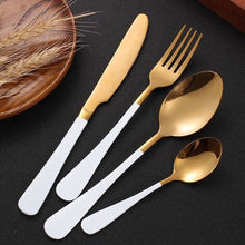 Beatrice Dipped Cutlery Set - white gold - Cutlery