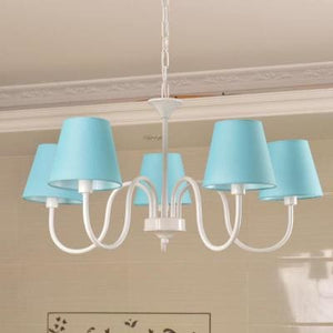 Carissa Classic Cottage Chandelier - Blue - Cottage Chandelier