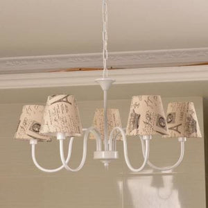 Carissa Classic Cottage Chandelier - French Press - Cottage Chandelier