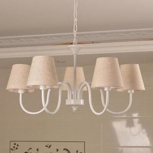 Carissa Classic Cottage Chandelier - Natural Tan - Cottage Chandelier