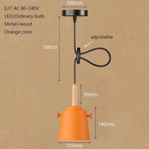 Colorful Matte Charlie Lights - Orange - Pendant Lights