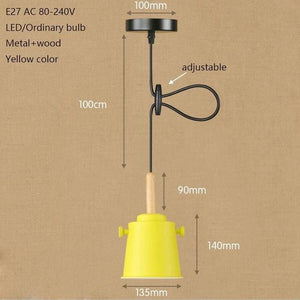 Colorful Matte Charlie Lights - Yellow - Pendant Lights