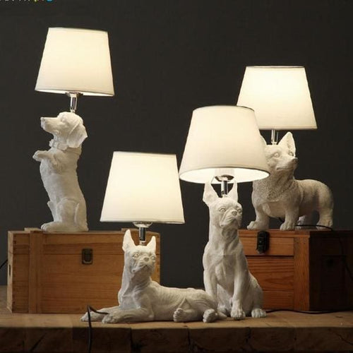 Furry Friends Table Lamps - Dog Lamps