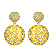 Garden Party Statement Earrings - Yellow - Earrings