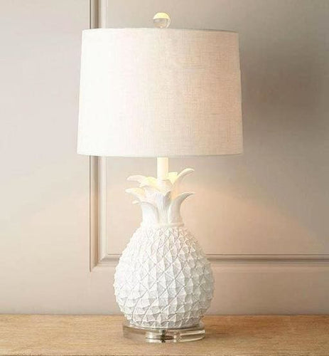 Ginger Pineapple Table Lamps - White - Table Lamp