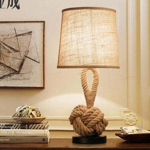 Ingrid Twisted Rope Table Lamp - Table Lamp
