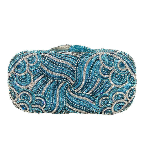 Mirielle Evening Clutch - Shades Of Blue - Evening Clutch Bag
