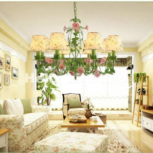 Rose Garden Chandelier - Cottage Chandelier
