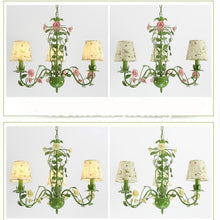 Rose Garden Chandelier - Pink Rose 3L Design / 21-30W - Cottage Chandelier